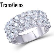 2.8CTW Carat Engagement Wedding Lab Grown Moissanite Diamond Ring Real 14k 585 White Gold For Wedding Women ring