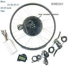 EBIKE конверсионный комплект 48V1000W Задняя кассета brhshless безредукторный Мотор Ступицы Колеса электрического велосипеда с дисплеем LCD3