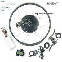 Precio Kit de conversión EBIKE 48V1000W cassette trasero brhshless motor de cubo sin engranaje rueda de bicicleta
