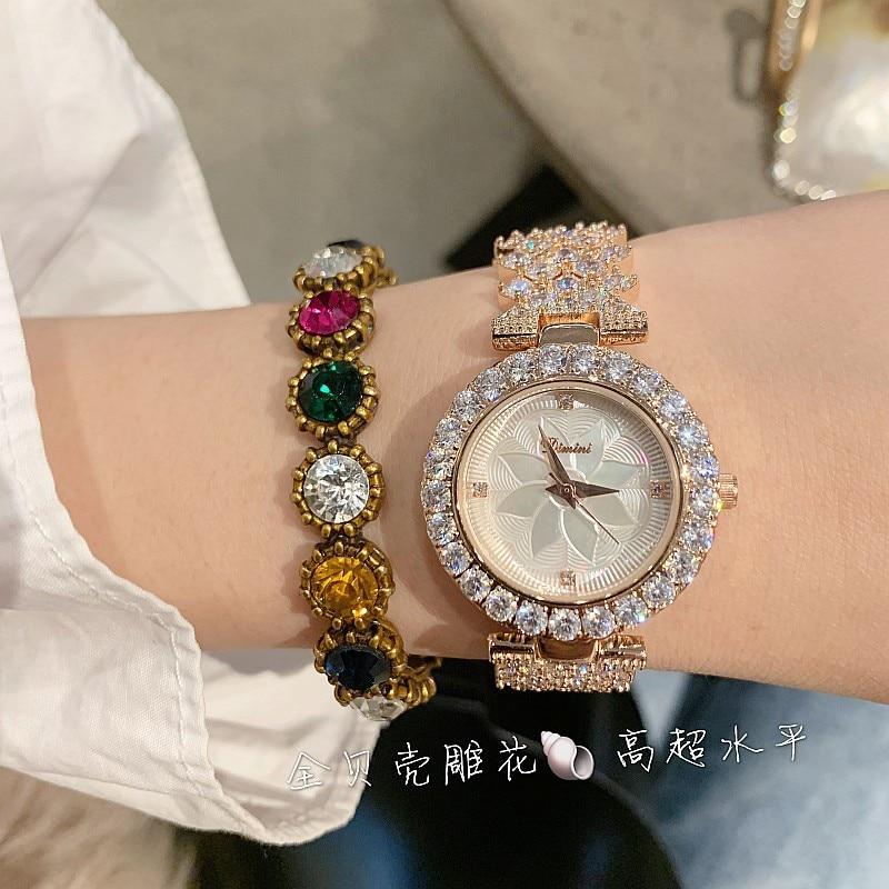 Image 4 - 2019 New Fashion Silver Women Watches Top Luxury Ladies Watch  Women Rhinestone Crystal Quartz Watches Dress Wristwatches ClockWomens  Watches