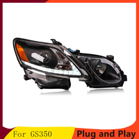 Car Styling For Lexus GS350 headlights 06 12 For GS350 head lamp led DRL front light Bi Xenon Lens Double Beam HID KIT