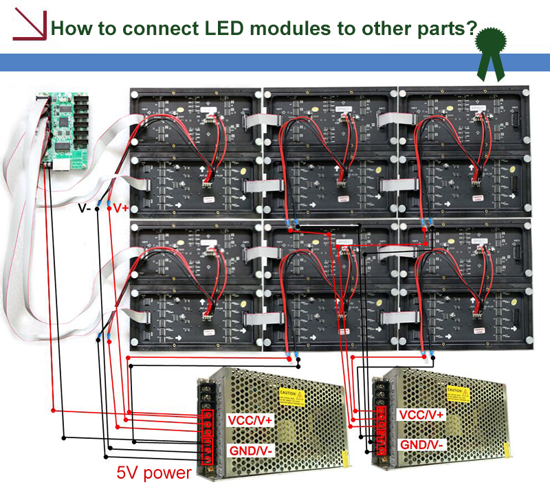 How to connect led module