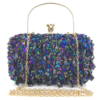 Women Totes Bags Luxury Clutch Crystal Handbags Evening Bags Sequins Wedding Bridal Purse Ladies Small Crossbody Shoulder Bags
