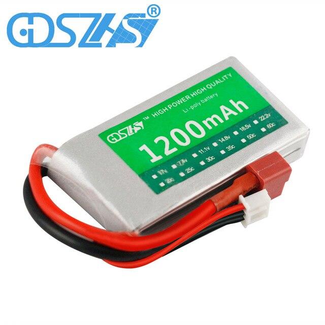 GDSZHS Lipo 2S Battery 7.4v 1200mAh 2S 25C JST PlugT Plug For Drone V666 V262 V353 V333 V323 Helicopter Truck Drone