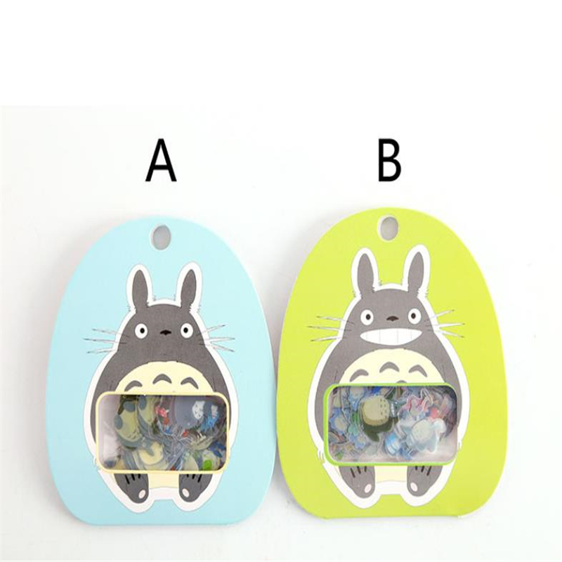 60pcs/pack Kawaii PVC Transparent Totoro Hand Account Sticker Pack Decorative Diary Scrapbooking Student's Award Gifts