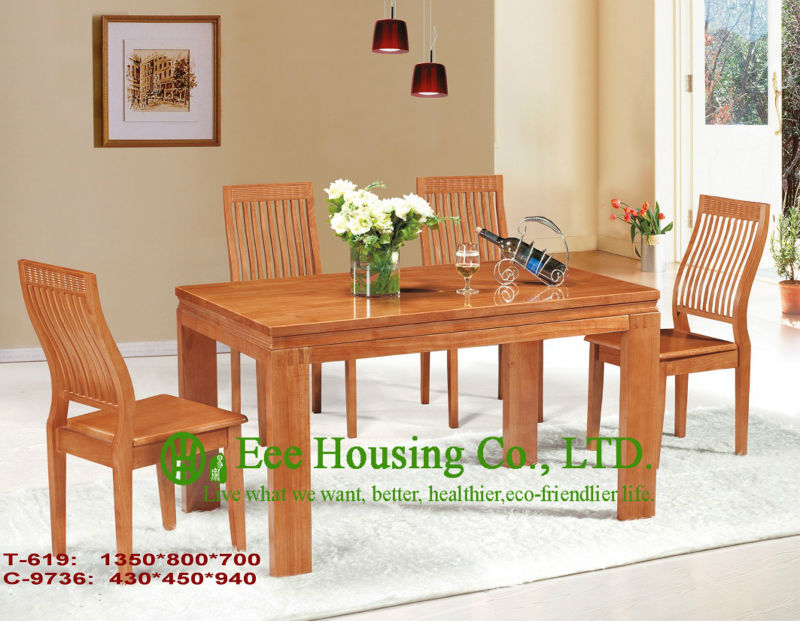 T-619,C-9736     Luxurious Solid Dining Chair,Solid Wood Dinning Table Furniture With Chairs/Home Furniture