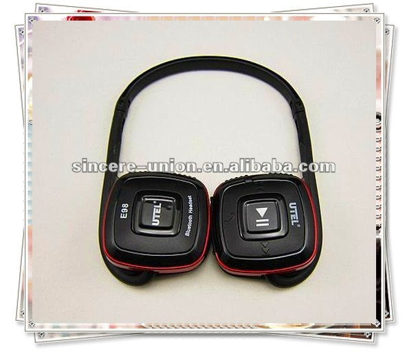 Bluetooth Headset Stereo with foldable sport headset free shipping