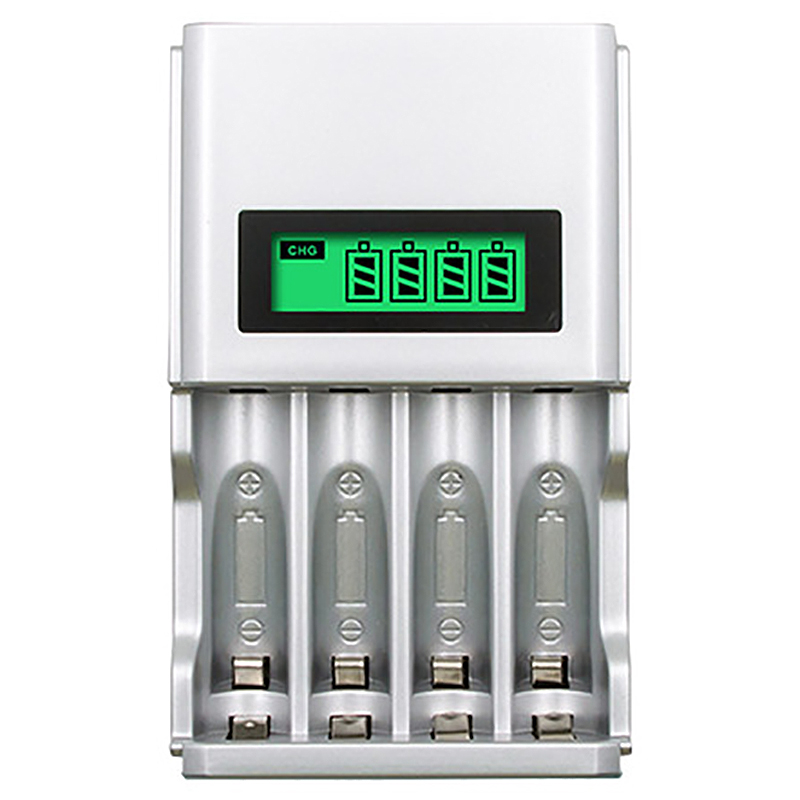 Four Slots Lcd Smart Battery Charger For Aa Aaa Rechargeable Battery Ni Mh Ni Cd Aaa Aa Rechargeable Batteries(Us Plug)