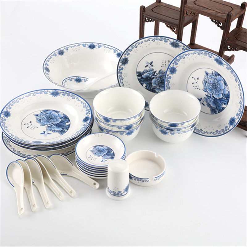 Wholesale Jingdezhen 28 Pieces Bone China Dinner Plates Bowl ...