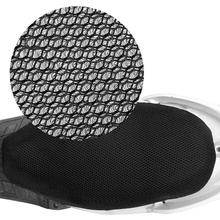3D Motorcycle Electric Bike Breathable Net Seat Cover Protector Cushion Black