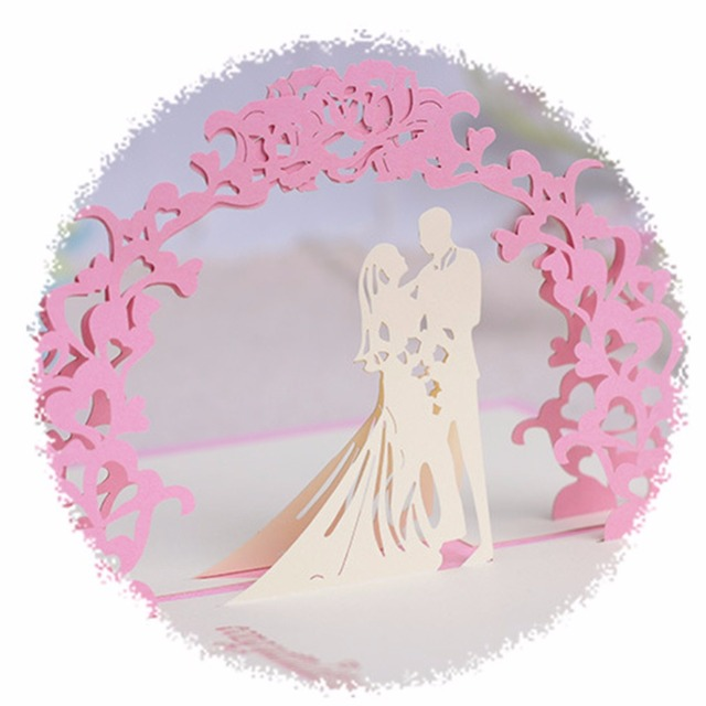 New  ValentineS Day Love Wedding Invitations Greeting Card D