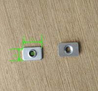 Zinc Plated Tee nuts for building machine M5 bore v slot 1000pcs per bag Free Shipping