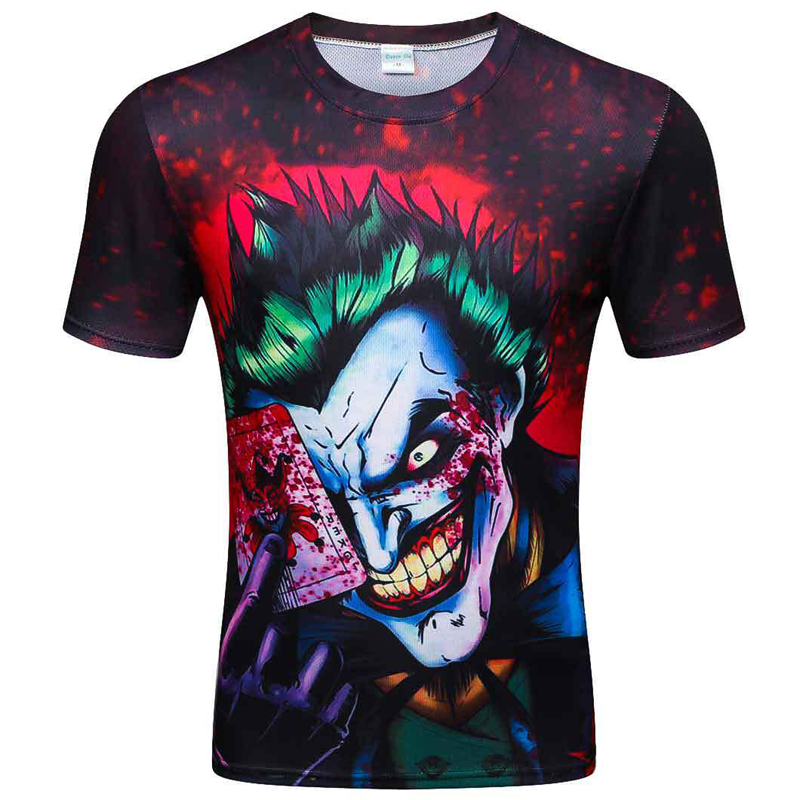 fashion man summer 2019 Various eagle poker clown mens tshirts funny 3D T Shirt casual breathable Newest print man tshirt in T Shirts from Men 39 s Clothing