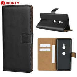 На Алиэкспресс купить чехол для смартфона case for sony xperia xz3 leather cover card slot wallet case coque for sony xz3 phone case cover flip stand