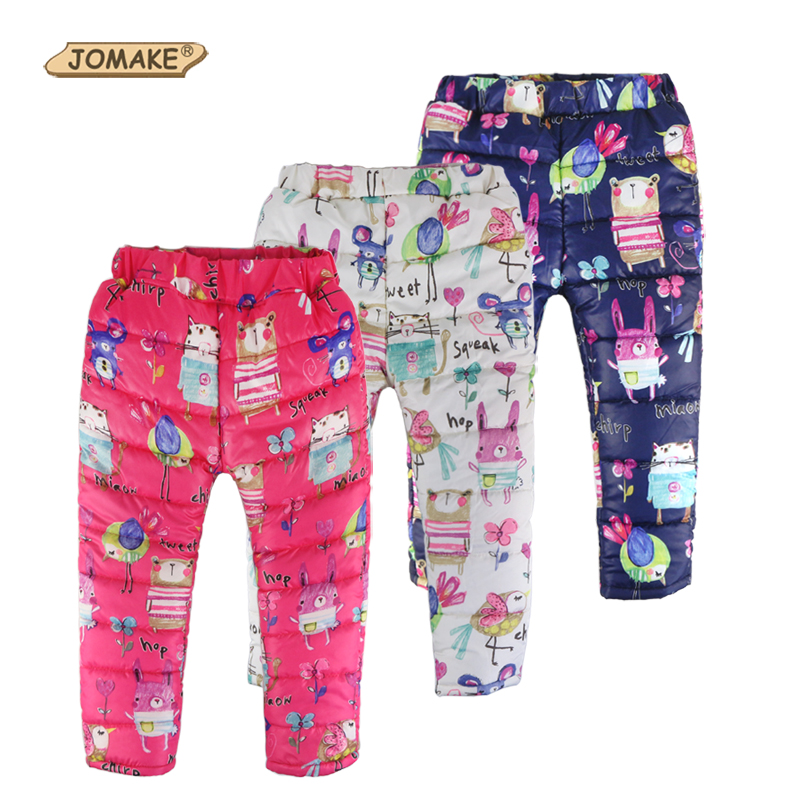 2018 Autumn Winter Children Trousers Baby Clothes Girls&Boys Thick Warm Toddler Kids Pants Cute Cartoon Animal Graffiti Clothing children autumn and winter warm clothes boys and girls thick cashmere sweaters