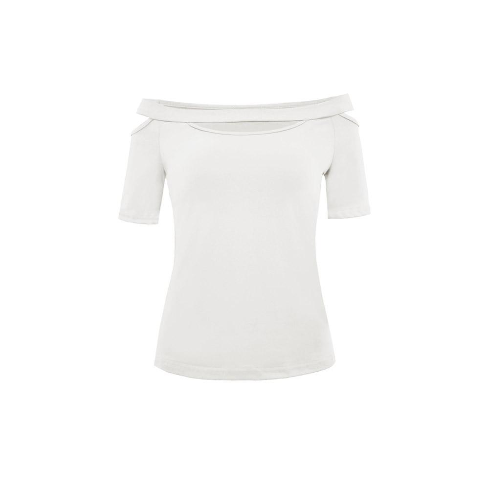 Camisa Verano Tops Nuevo Y De Casual wine Corta Hueco Club Sexy Manga Cuello 2018 Negro Moda blanco Mujer Blusas g0twZHxq