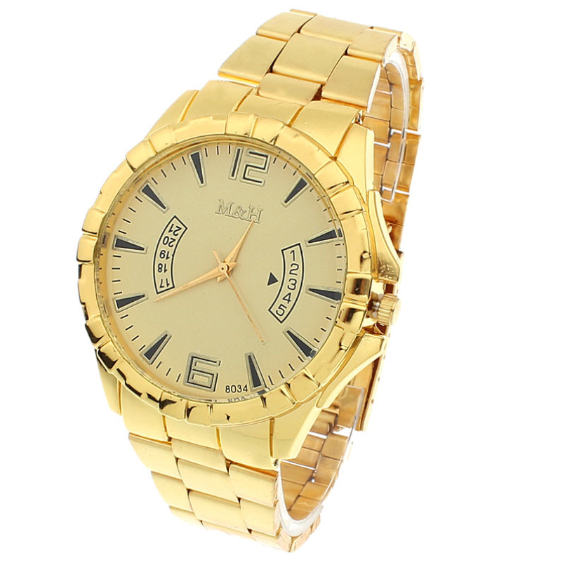 Excellent Quality New Fashion Watches Gold Color Mens Quartz Watches Top Brand Luxury Watch Steel Mens Dress Watches for Gift 2017 new fashion jis watch gold color mens watches casual top brand luxury hot selling ladies watch steel women dress watches