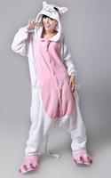 Ücretsiz kargo yetişkin hayvan romper unisex fanila tulum onsie fantezi dress kostüm sevimli kedi hayvan onesie pijama