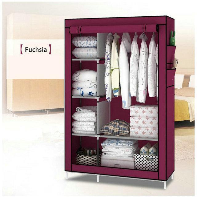 When the quarter wardrobe DIY Non-woven fold Portable Storage Cabinet