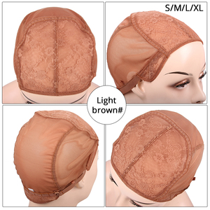 Image 3 - Wholesale 10Pcs Soft Breathable Wig Cap For Making Wigs Best Wig Net Double Lace Front Wig Cap With Adjustable Strap Mesh Cap