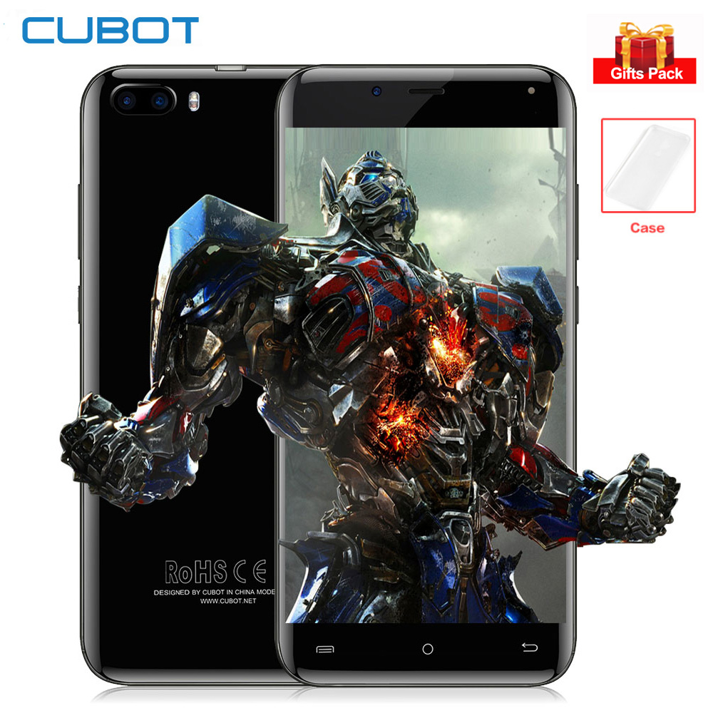 CUBOT R9 Android 7.0 Mobile Téléphones 13MP + 5MP Double Arbre à Cames 5.0 IPS HD Écran Quad Core 2 gb + 16 gb MTK6580A 3g Smartphone D'empreintes Digitales