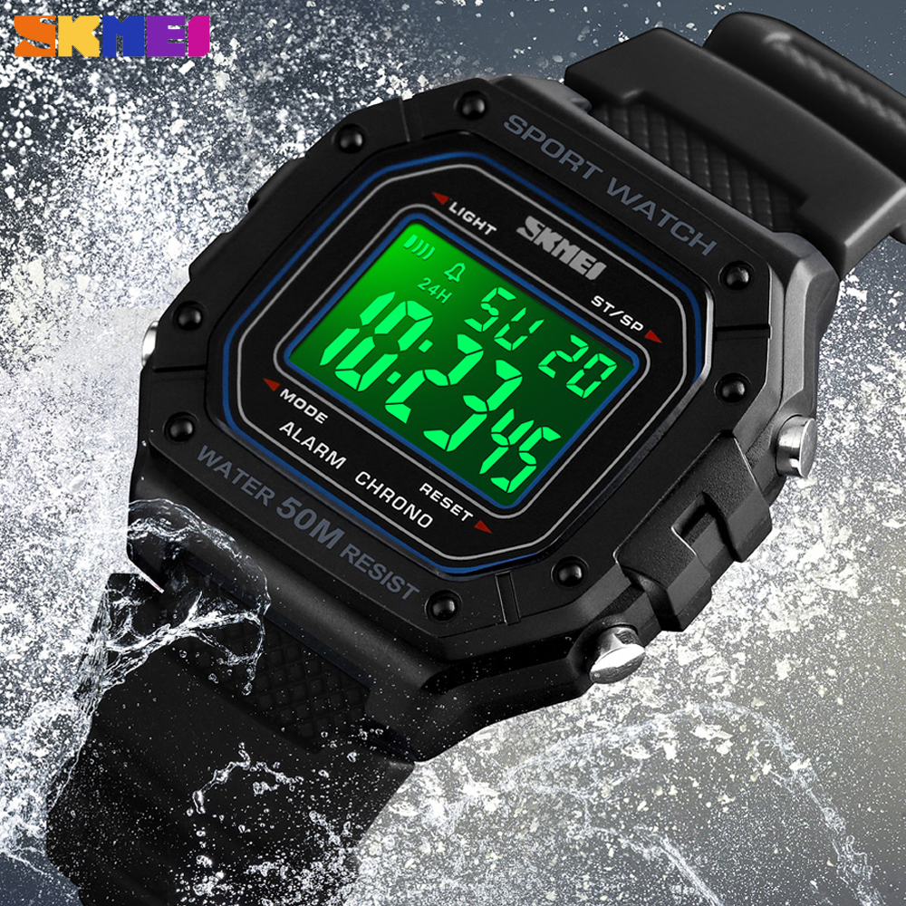 18095ffb932a SKMEI Fashion Digital Watch For Men Outdoor Sport Wristwatch Waterproof  Countdown Chronograph Military Clock Relogio Masculino