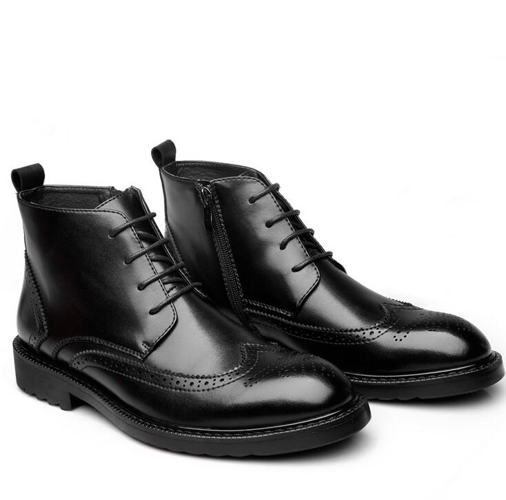 YIGER Genuine Leather Boots for Men 15