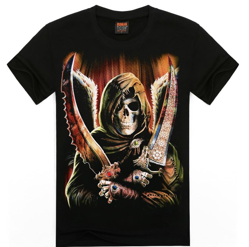 Newest 3d T Shirt Men T Shirt Horror Skull Print T Shirts Summer Tops Tees Free Ship