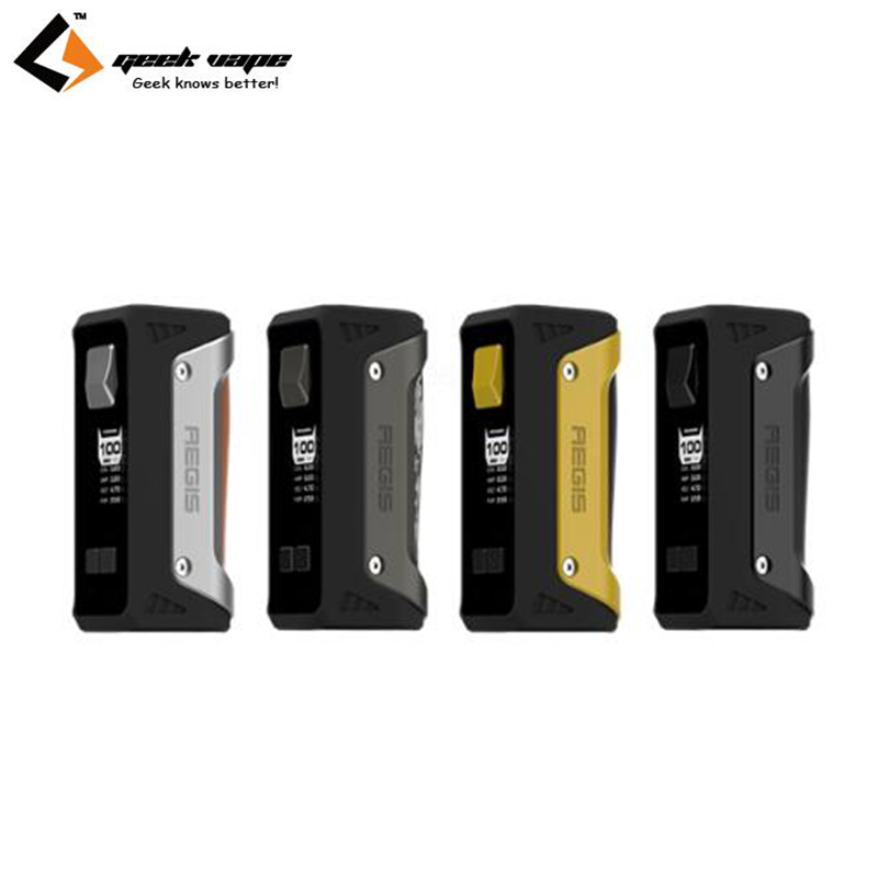 Original Geekvape Aegis Box MOD 100W Electronic Cigarette Waterproof Shockproof Dust-proof Design Vape MOD original 100w geekvape aegis tc box mod 4300mah 26650 battery