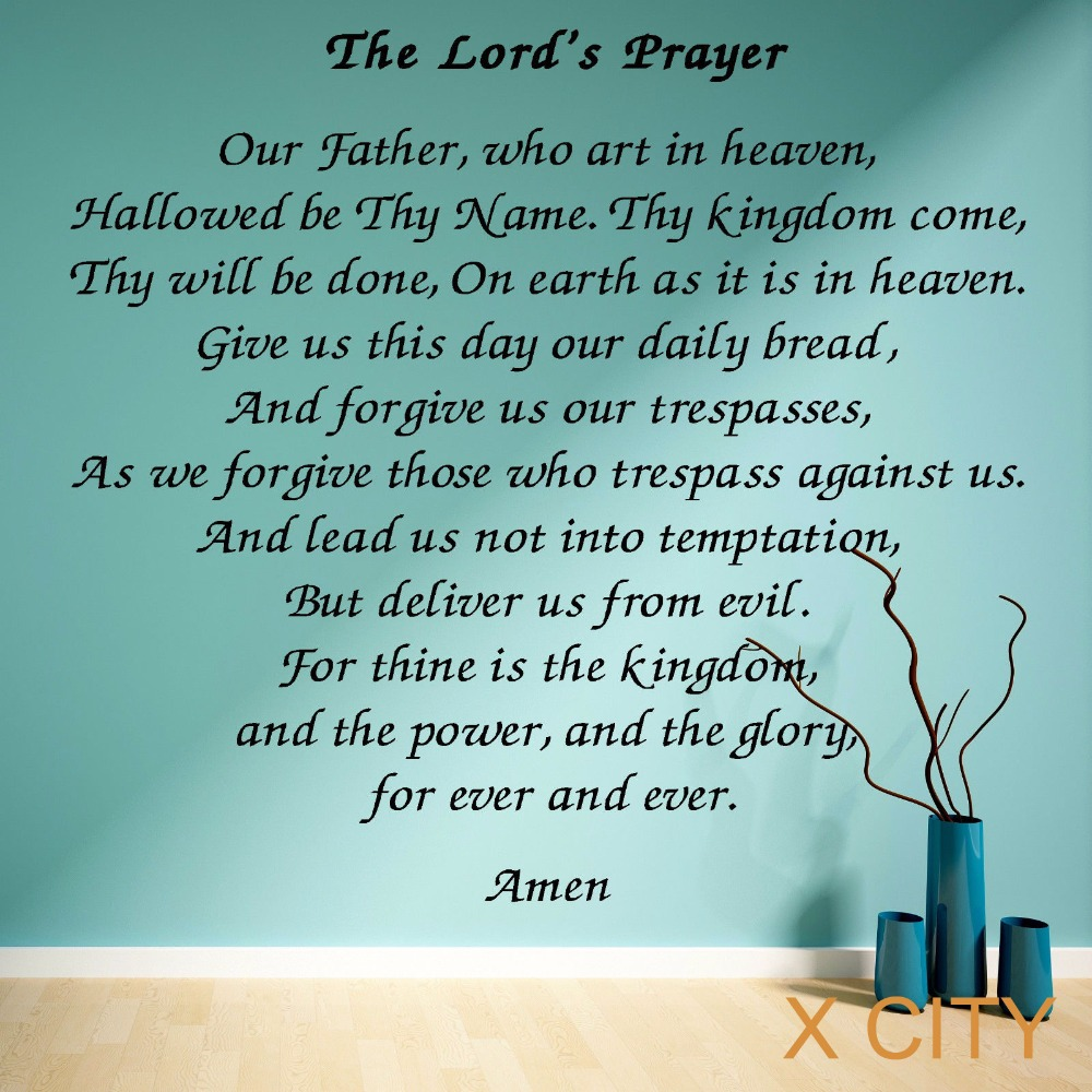 aliexpress com buy the lords prayer vinyl wall art room sticker