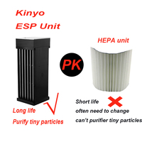 Electrostatic precipitator Air Purifier home office No consumption PM 2.5 Smoke remover Air purifier air cleaner pk hepa filter