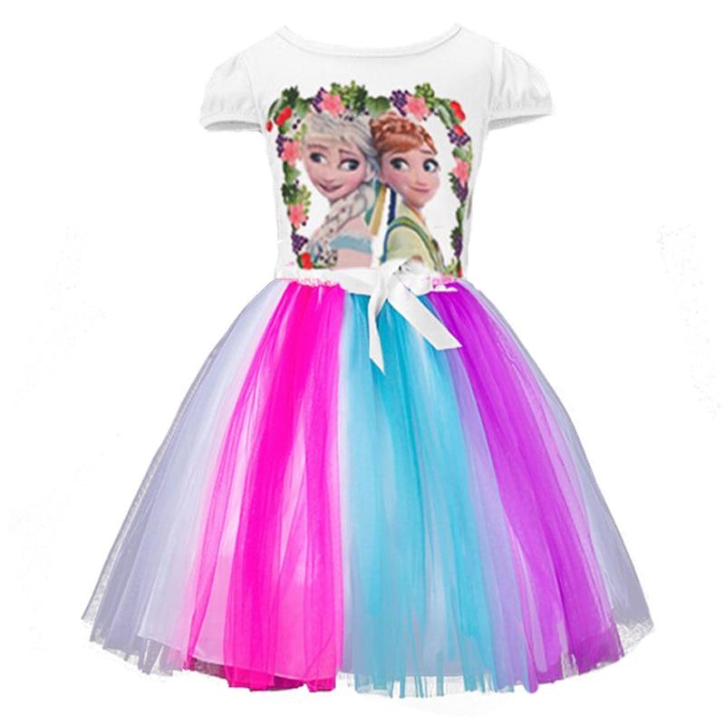 Niñas personaje de dibujos animados Elsa y Anna niños verano ropa ...