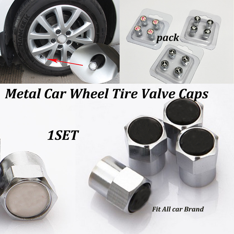 United States USA Badge Wheel Hub Air Tyre Tire Stem Valve Caps For Ford Mustang