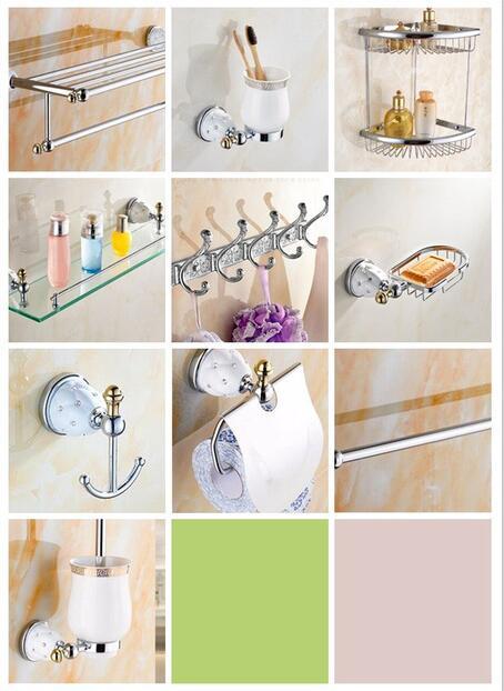 Chrome Modern 5 Pc Bath Accessories Towel Bar Ring Toilet Bathroom Hardware Set
