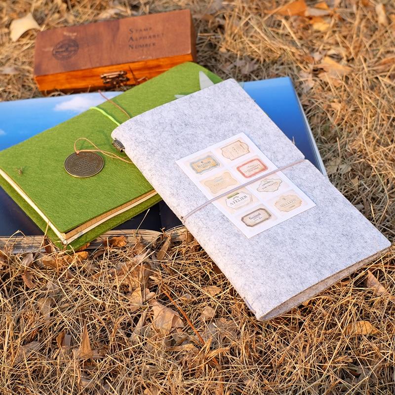 Felt Fabric Traveller's Notebook DIY ауыстырылатын - Блокноттар мен жазу кітапшалары - фото 4