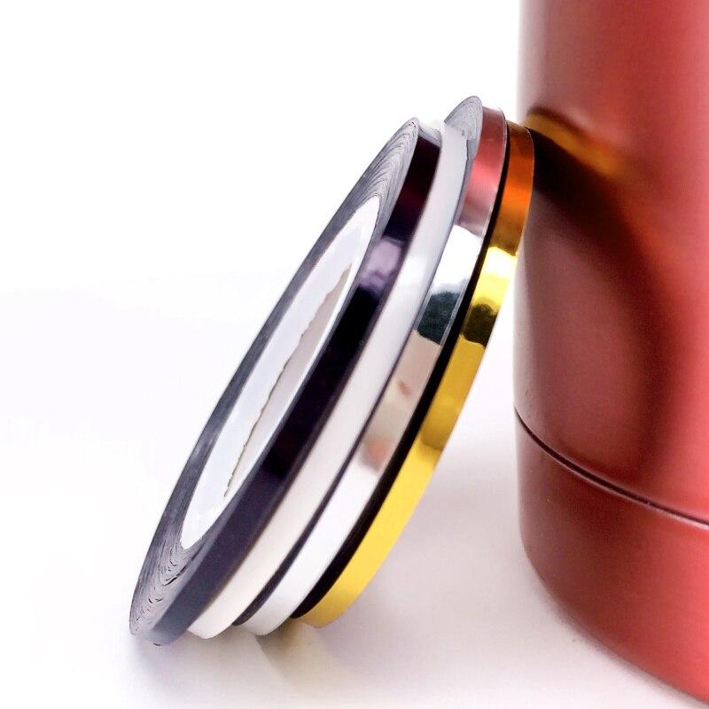 Lcj chegam novas 2mm 4 cores popular prego striping fita linha para unhas decorações diy arte do prego auto-adesivo decalque ferramentas