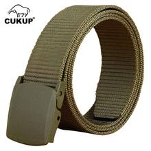 CUKUP Unisex Design Casual Accessories High Quality Nylon Belts Plastic Automatic Buckle Male Fashion Waistbands Belt CBCK008