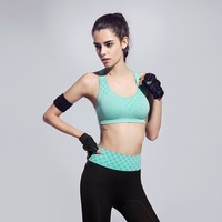 FLANDIS Yoga Bra Seamless Breathable Sport Bra Quick Dry Wide Straps Fitness Running Sexy Jogging Top