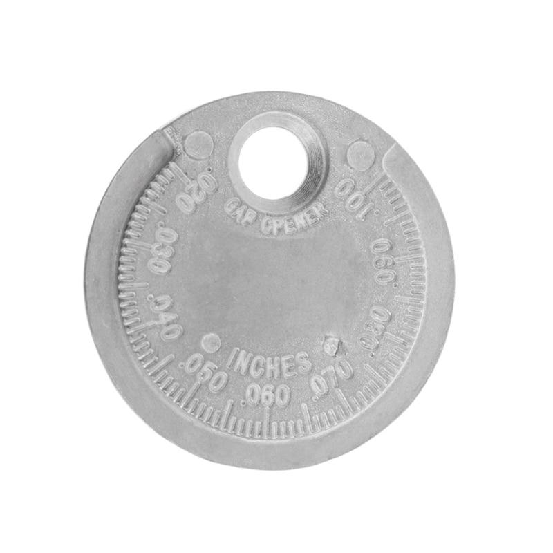 Spark Plug Gap Gauge Tool Measurement Coin-Type 0.6-2.4mm Range Spark Plug Gage цена