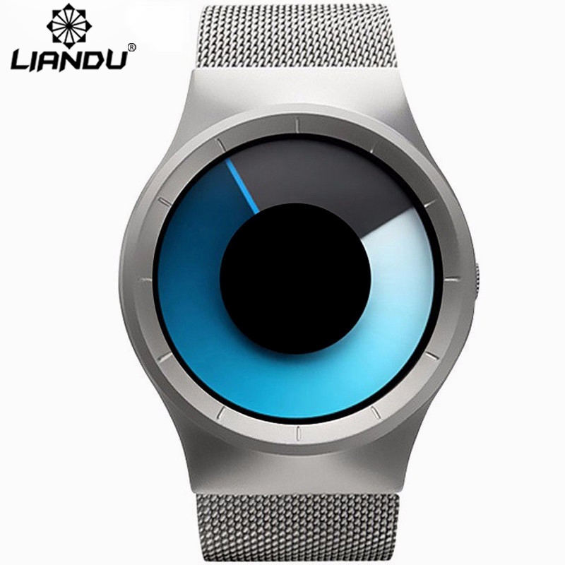 LIANDU Luxury men & Ladies Ultra-Thin Stainless Steel Mesh Band Watch Waterproof Fashion Casual Quartz Watches Clock gift Man 2016 new hot ultra thin relojes fashion dress watches steel metal mesh band watch for kids man