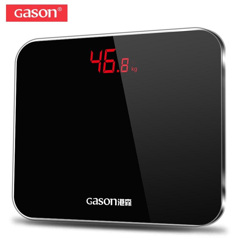 GASON A3 Bagno Corpo Bilance Accurate Intelligente Elettronico Digitale del Peso del Pavimento di Casa di Salute Vetro Temperato LED Display 180kg
