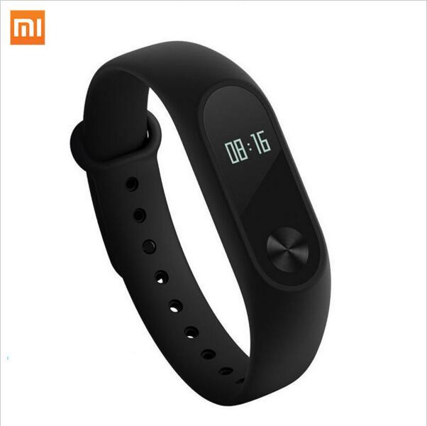Original Xiaomi Mi Band 2 Smart Fitness Bracelet Wristband Mi OLED Touchpad Sleep Monitor Heart Rate Mi Band 2 with protector