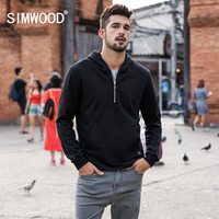 SIMWOOD 2018 New Arrive Brand Hoodies Spring Sweatshirts Men Casual Hoodies Plus Size Pullover Warm Clothes