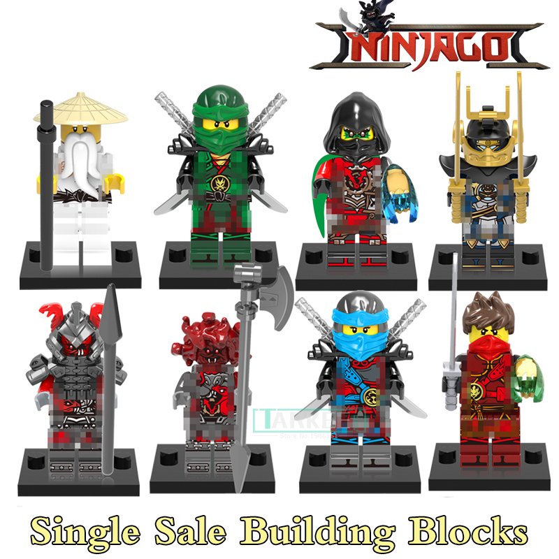 Building Blocks Nya Krux Lloyd Ninja of Water Figures Star Wars Super Hero Action Bricks Kids DIY Samll Funny Toys X0155 Figures 2018 hot ninjago building blocks toys compatible legoingly ninja master wu nya mini bricks figures for kids gifts free shipping