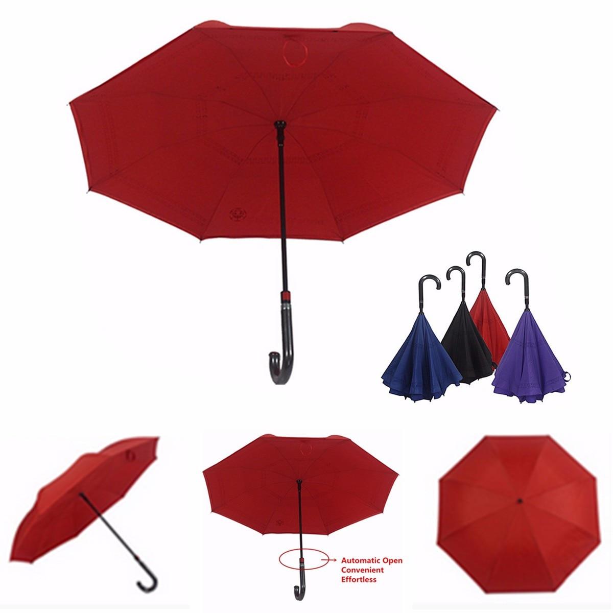 Invert color jpg online - Anti Uv Upside Down Reverse Umbrella Inverted Double Layer Umbrella Reverse Design Umbrella Windproof Parasol Bumbershoot