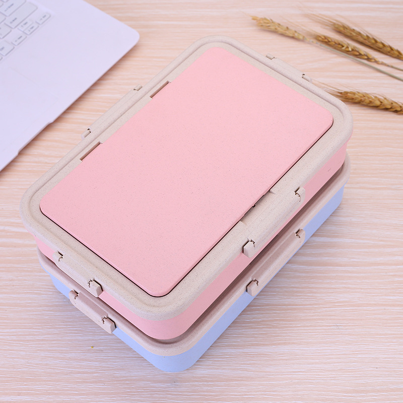 Lunch Box For Kids Food Container Lunchbox Wheat Straw Microwavable Japan Style Student Insulation Lunch Box Child Rectangular in Lunch Boxes from Home Garden