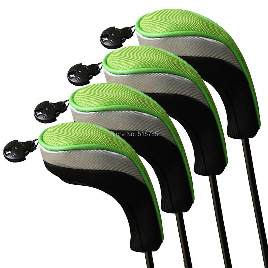 4 pcs/ensemble Andux Golf Accessoires Hybride Couvre La Tête Interchangeable Non Tag 3 4 5 7 X Golf Club Couvre