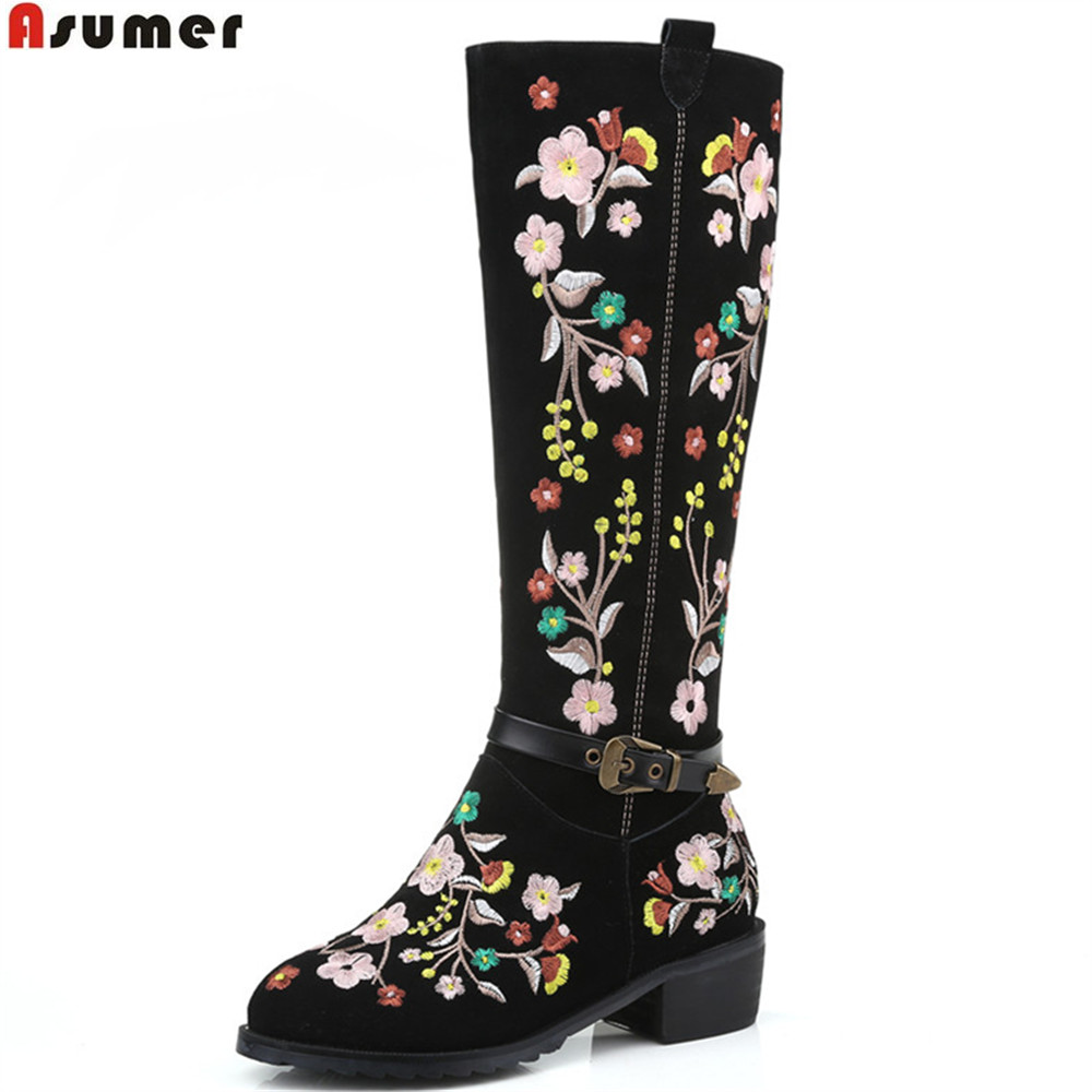 ASUMER 2018 winter new arrive women boots flock zipper embroider square heel ladies boots buckle knee high boots big size 34-46 100%new gtx780ti public version of the graphics card independent 3g seconds 970 980 1070 1080 1060 rx470 480
