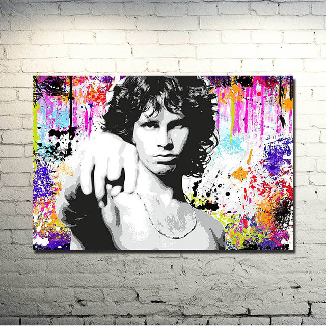 JIM Morrison Music Band Art Silk Or Canvas Poster 13×20 24×36 inches Colourful Pictures for Living Room Decor (NEW)