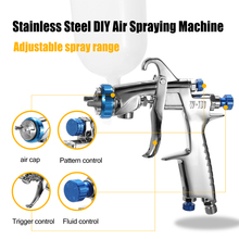 цена на Professional Air Spray Gun Paint Gun Sprayer Gravity Feed Airbrush Kit Car Furniture Painting Spraying Tool